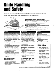 Knife Handling and Safety - Environmental Health and Safety