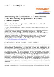 Manufacturing and Characterization of Corrosion Resistant Epoxy