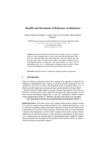 Benefits and Drawbacks of Reference Architectures