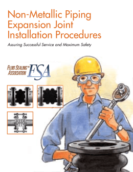 Non-Metallic Piping Expansion Joint Installation Procedures