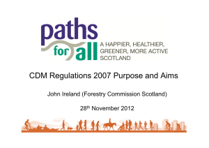 CDM Regulations 2007 Purpose and Aims