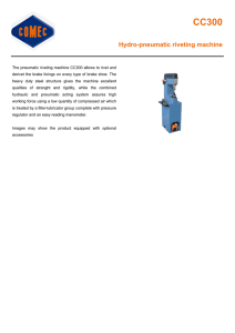 Hydro-pneumatic riveting machine