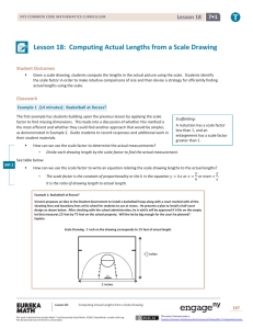 Lesson 18: Computing Actual Lengths from a Scale