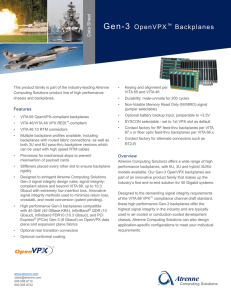 Gen-3 OpenVPX™ Backplanes - Atrenne Integrated Solutions