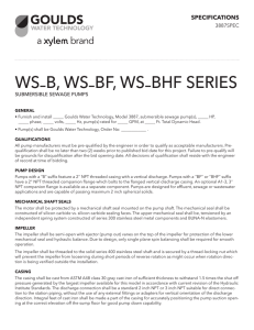 Goulds WS-BHF Series Submersible Sewage