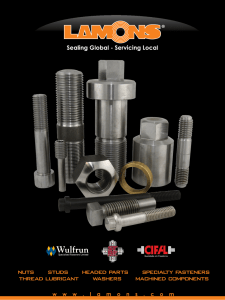 nuts studs headed parts specialty fasteners thread lubricant washers
