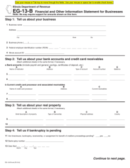 Form EG-13-B - Illinois Department of Revenue