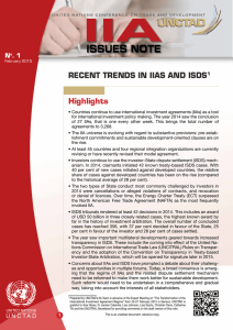 Recent Trends in IIAs and ISDS