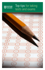 Top tips for taking tests and exams