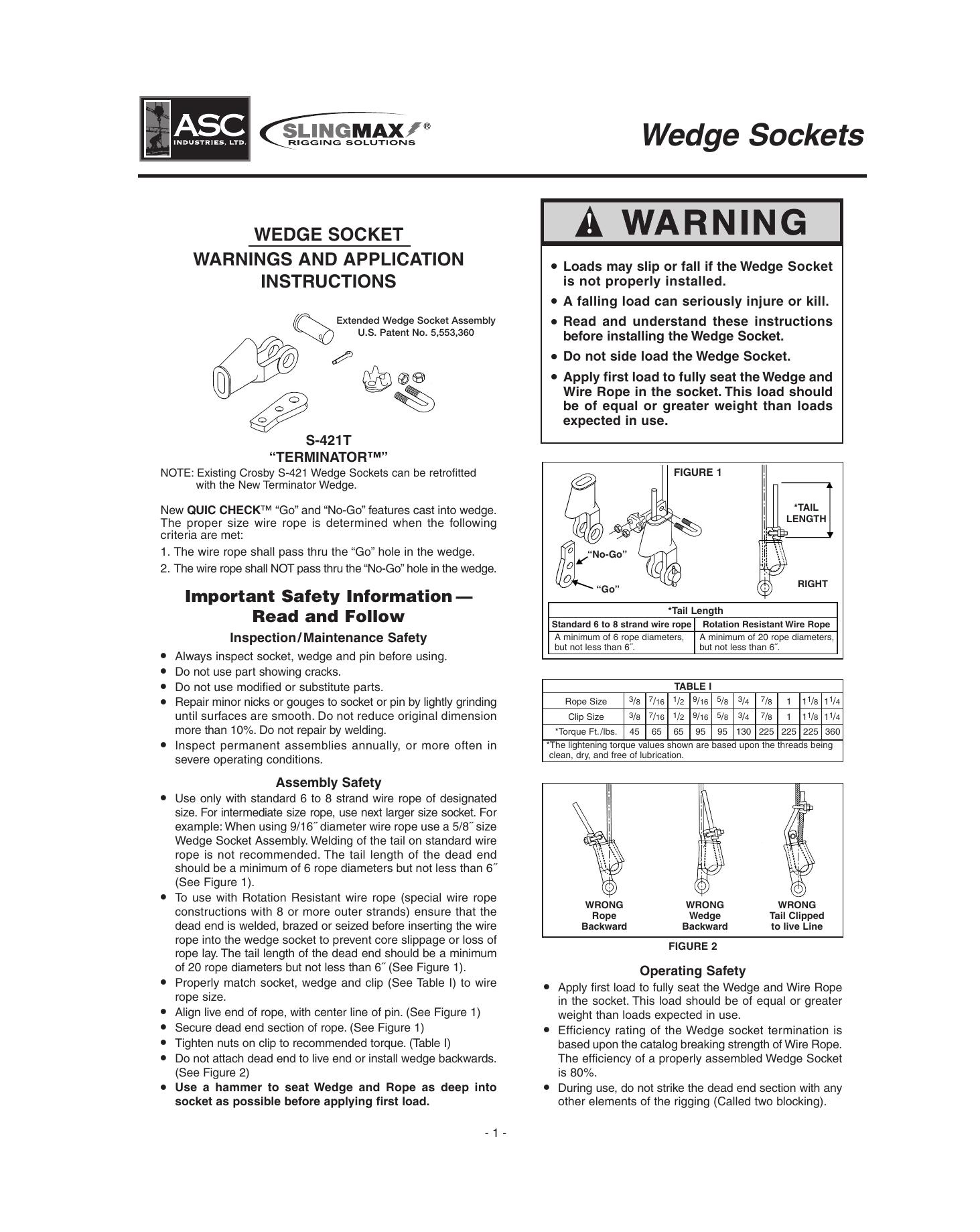 Wedge Sockets - ASC Industries LTD.