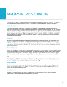 assessment opportunities