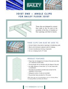 joist end — angle clips - Bailey Metal Products Limited