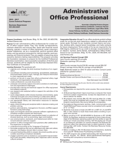 Administrative Office Professional