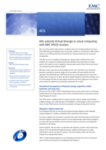 AOL Extends Virtual Storage To Cloud Computing With EMC VPLEX