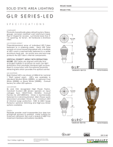 GLR SERIES-LED - U.S. Architectural Lighting