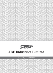 Year 2014-15 - JBF Industries Ltd