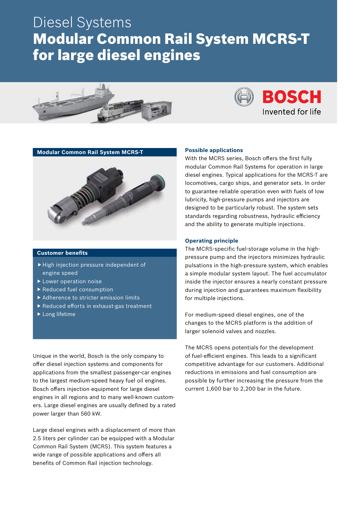 MCRS-T - Bosch Mobility Solutions