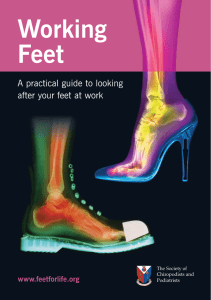 FfL Working Feet A5 - The Society of Chiropodists and Podiatrists