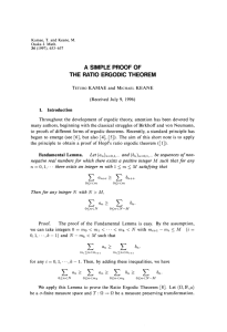 a simple proof of the ratio ergodic theorem