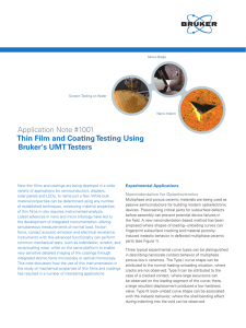 Application Note #1001 Thin Film and Coating Testing Using Bruker