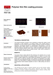 Polymer thin film coating process