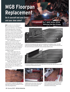 MGB Floorpan Replacement - British Motoring Club New Orleans