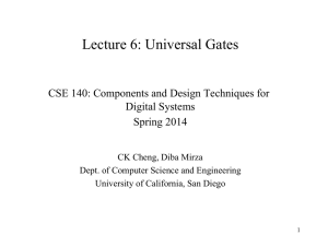 Lecture 6: Universal Gates - Computer Science and Engineering