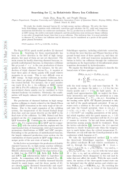 Searching for $\ Xi_ {cc}^+ $ in Relativistic Heavy Ion Collisions