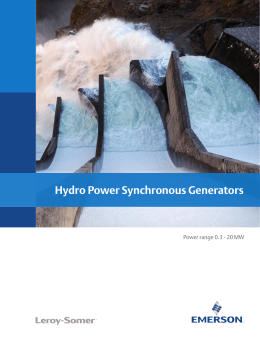 Hydro Power Synchronous Generators