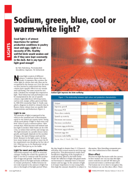 Sodium, green, blue, cool or warm-white light?