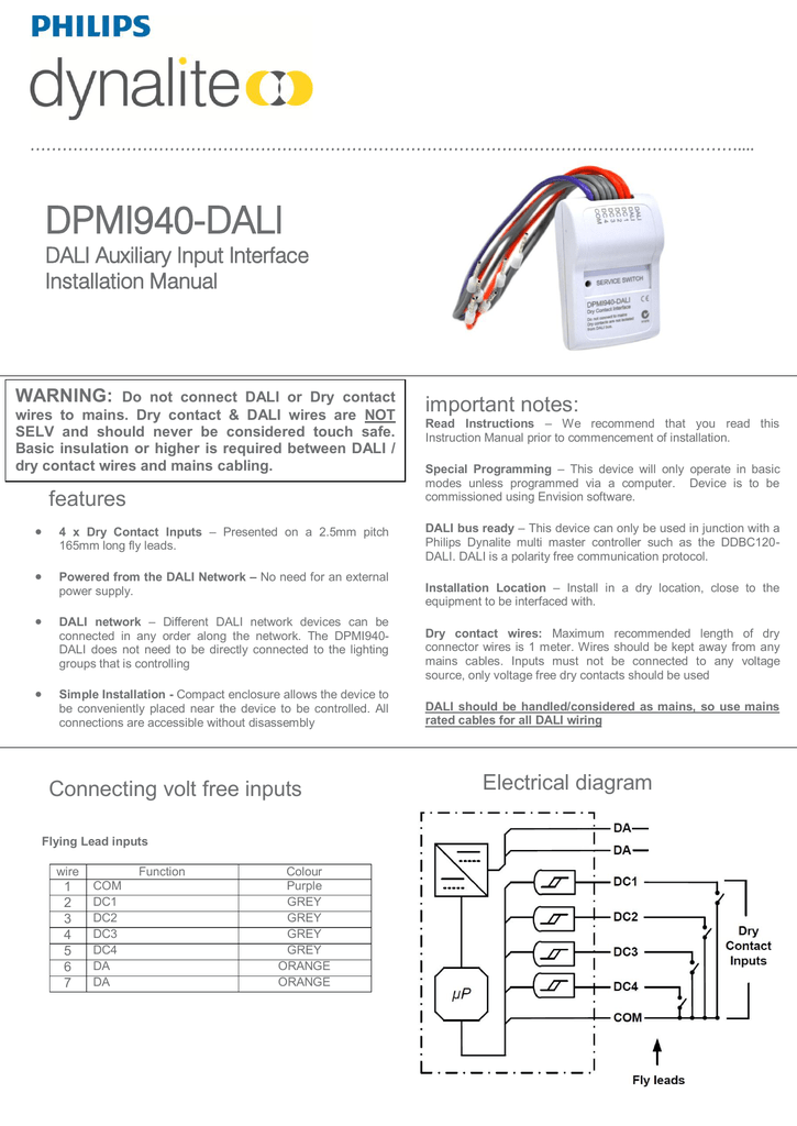 018294360_1 3661ca21cae2a96724b20b5cfc11de13 dpmi940 dali installation manual rev b philips dynalite wiring diagram at panicattacktreatment.co