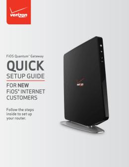 how to setup the verizon fios router rh studylib net Verizon FiOS Router 9100 Verizon Modem Router
