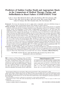 Predictors of Sudden Cardiac Death and Appropriate Shock in the