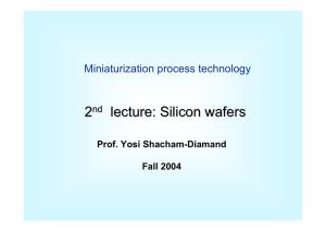 lecture: Silicon wafers