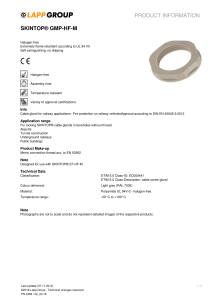 PRODUCT INFORMATION SKINTOP® GMP-HF-M