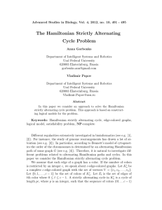 The Hamiltonian Strictly Alternating Cycle Problem