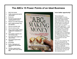 The ABCs 15 Power Points of an Ideal Business