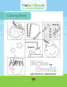 Coloring Sheet - School Nutrition Association