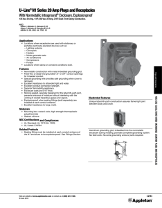 U-Line® N1 Series 20 Amp Plugs and Receptacles
