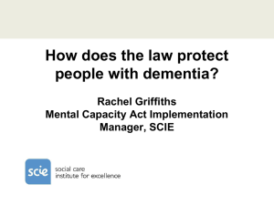 How does the law protect people with dementia?