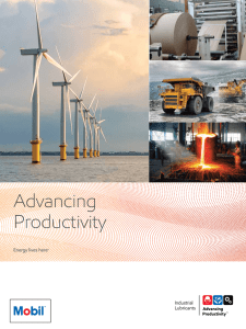 Advancing Productivity Brochure - Industrial lubricants, oils and