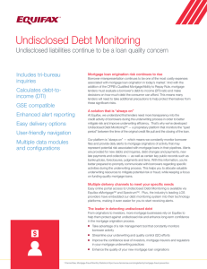 Undisclosed Debt Monitoring