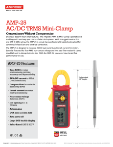 AMP-25 AC/DC TRMS Mini-Clamp