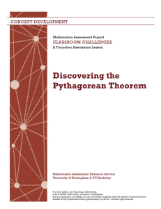 Discovering the Pythagorean Theorem