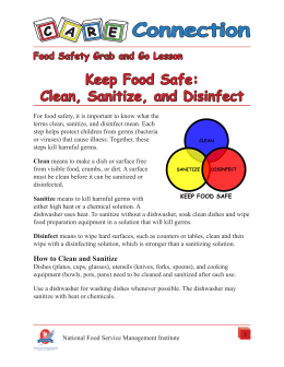 Keep Food Safe: Clean, Sanitize, and Disinfect