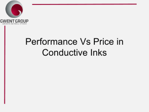Performance Vs Price In Conductive Inks