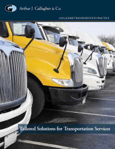 Tailored Solutions for Transportation Services