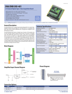 DNA-DIO-401 Datasheet - United Electronic Industries