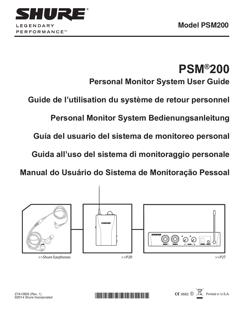 Psm 200 Personal Monitor System User Guide English Combo Xlr Jack Wiring