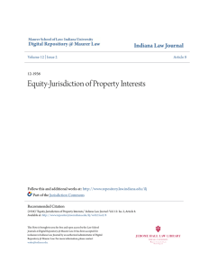 Equity-Jurisdiction of Property Interests